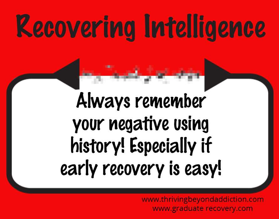 Always remember your negative using history! Especially if early recovery is easy!